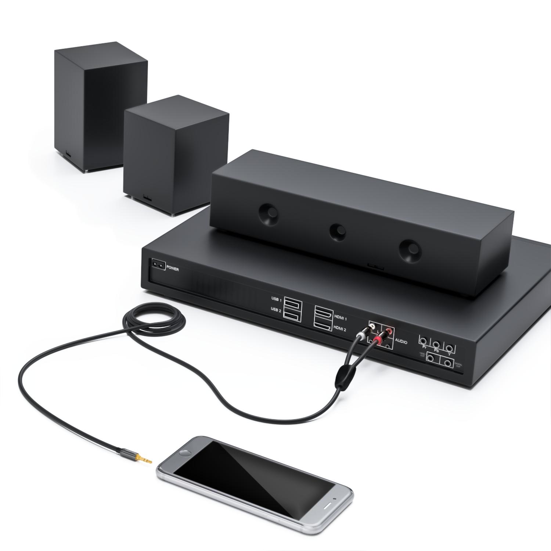 deleycon klinke zu 2x cinch kabel 10 l ngen deleycon. Black Bedroom Furniture Sets. Home Design Ideas