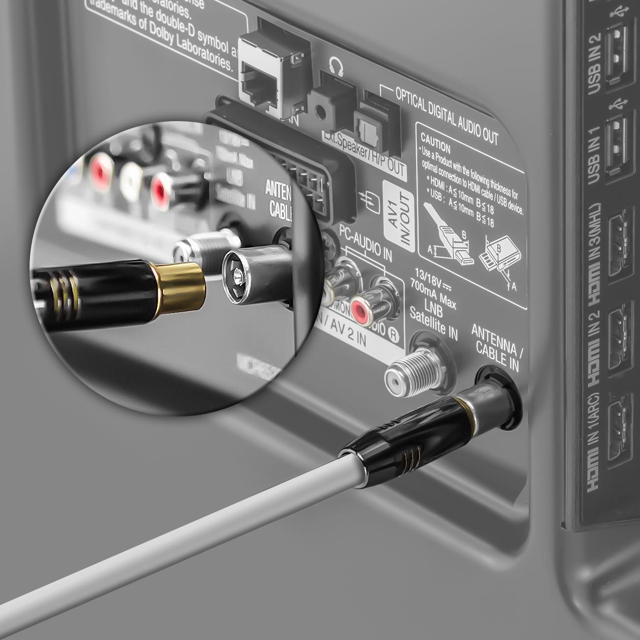 deleycon tv antennen kabel fullhd wei 10 l ngen deleycon. Black Bedroom Furniture Sets. Home Design Ideas