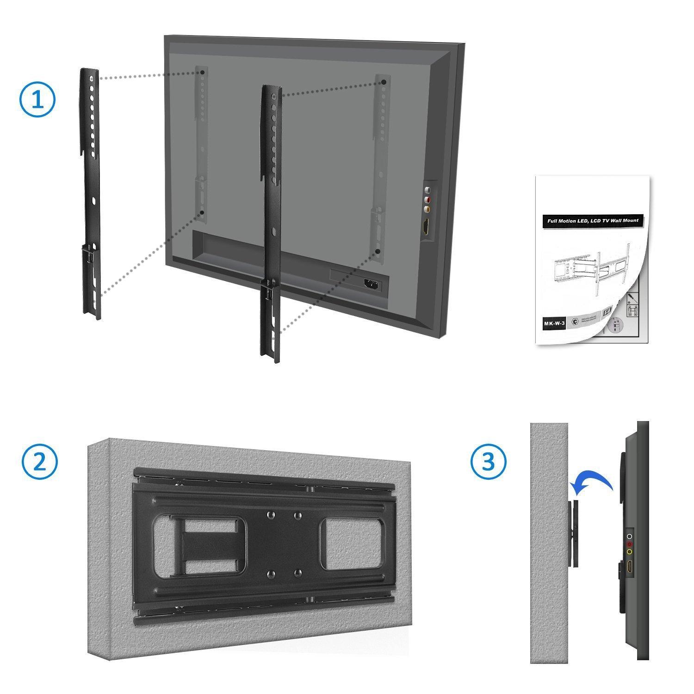 tv wandhalterung bis 55 zoll 50kg vollbeweglich deleycon. Black Bedroom Furniture Sets. Home Design Ideas