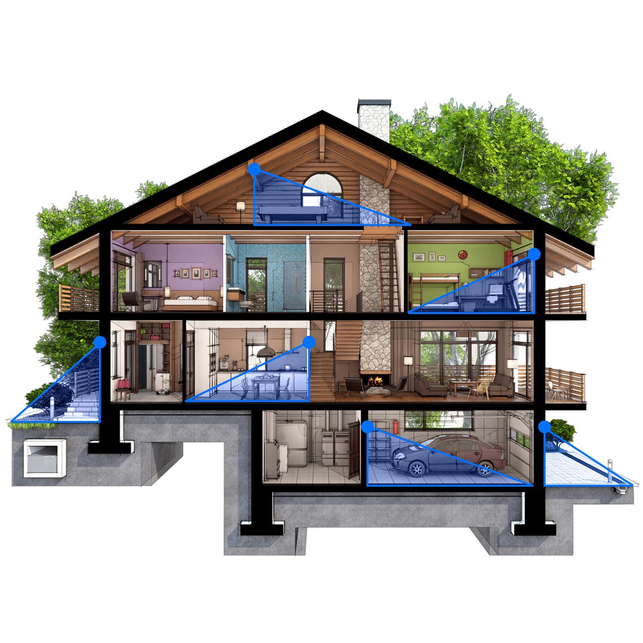deleycon infrarot bewegungsmelder 180 arbeitsfeld reichweite bis 12m 2 farben deleycon. Black Bedroom Furniture Sets. Home Design Ideas