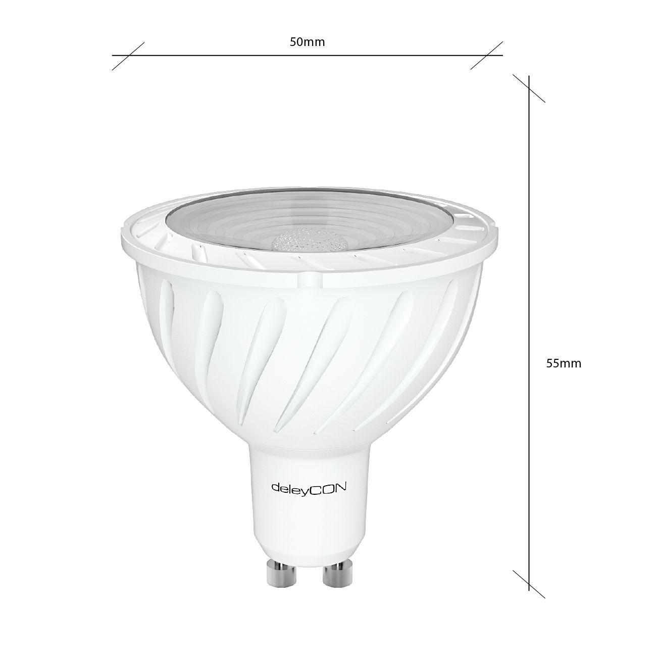 Deleycon led spot energiesparlampe fassung gu10 2700k warm deleycon led spot energiesparlampe fassung gu10 2700k warm wei leistung 6w parisarafo Gallery