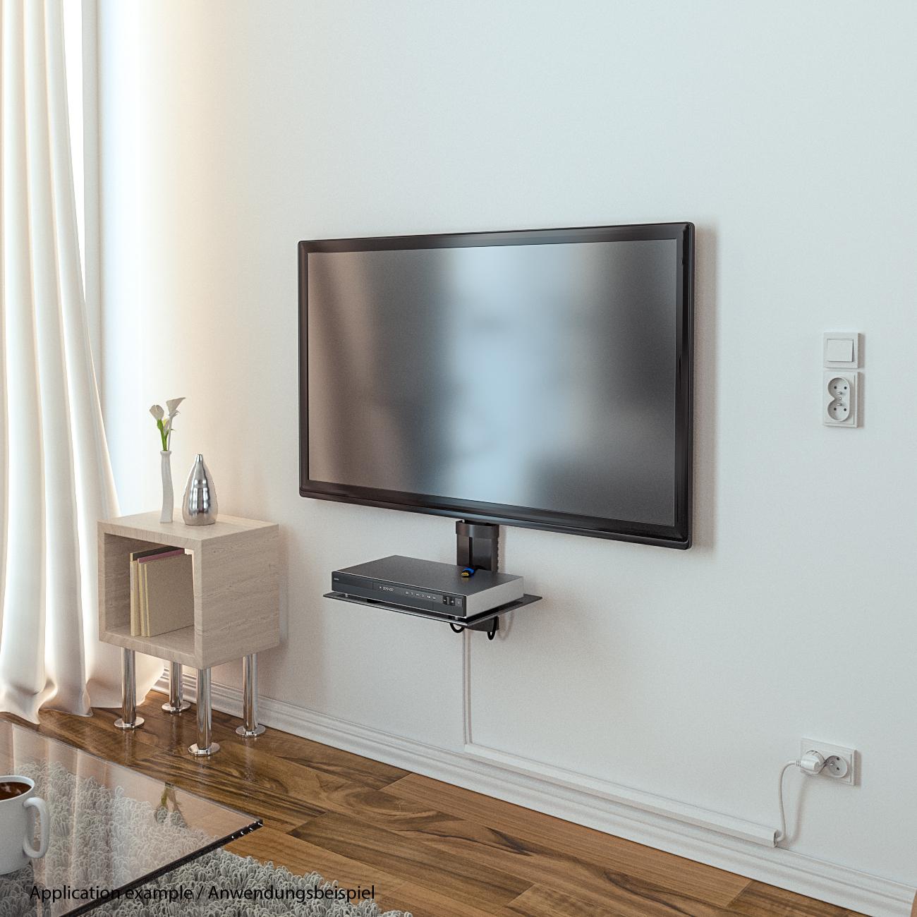 deleycon universal multimedia wandregal glasregal deleycon deleycon. Black Bedroom Furniture Sets. Home Design Ideas