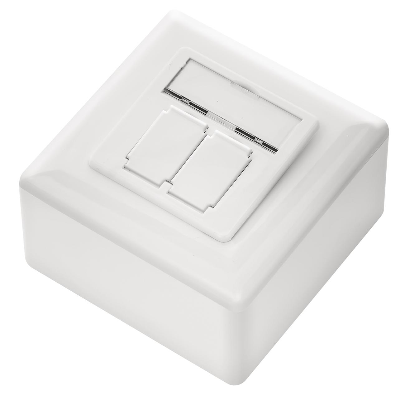 deleycon cat6a netzwerkdose wei deleycon. Black Bedroom Furniture Sets. Home Design Ideas