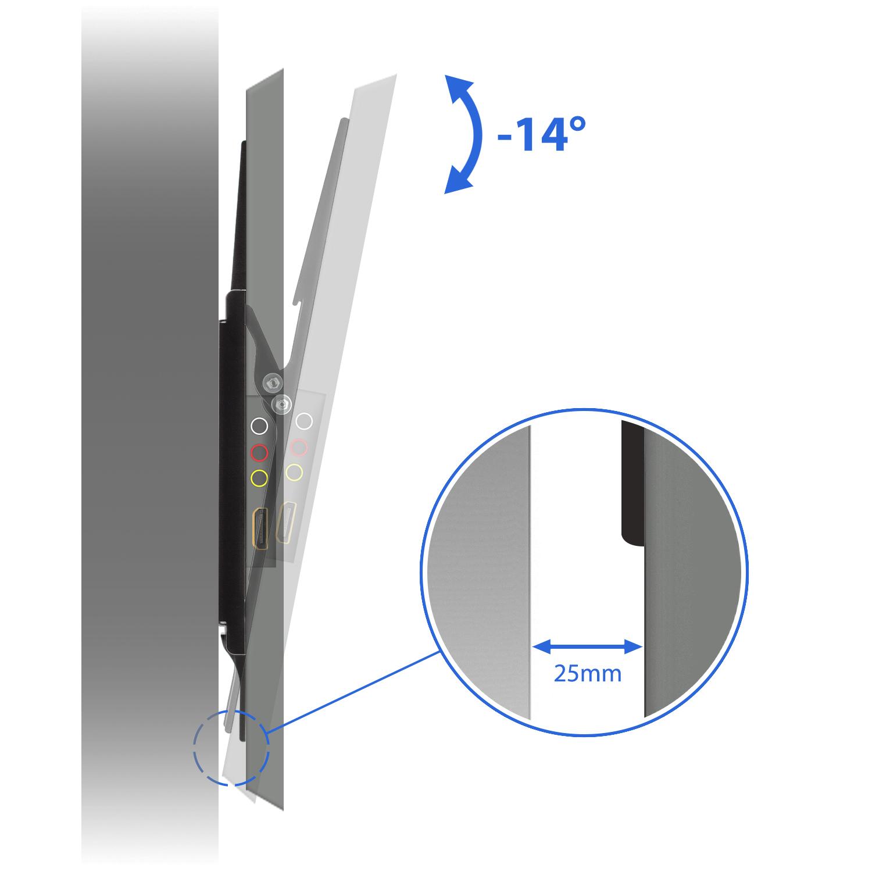 tv wandhalterung bis 65 zoll 35kg neigbar deleycon. Black Bedroom Furniture Sets. Home Design Ideas