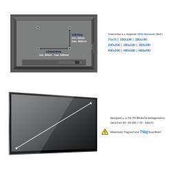 tv wandhalterung bis 65 zoll 75kg neigbar deleycon deleycon. Black Bedroom Furniture Sets. Home Design Ideas