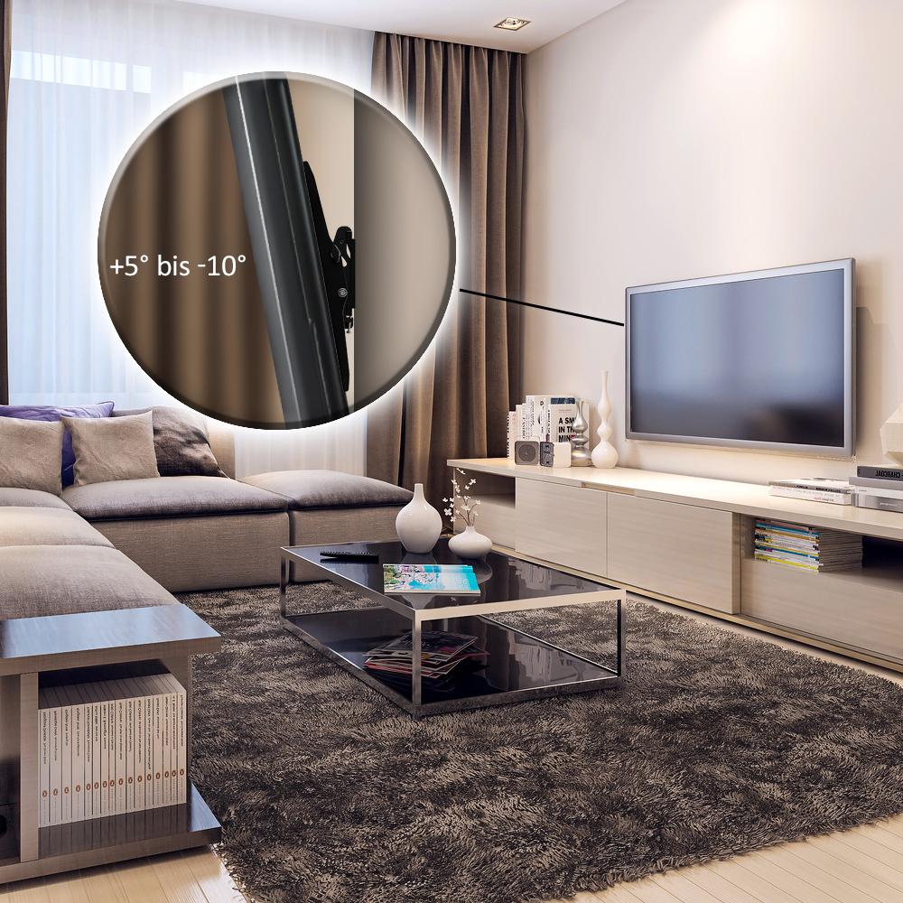 tv wandhalterung bis 65 zoll 75kg neigbar deleycon. Black Bedroom Furniture Sets. Home Design Ideas