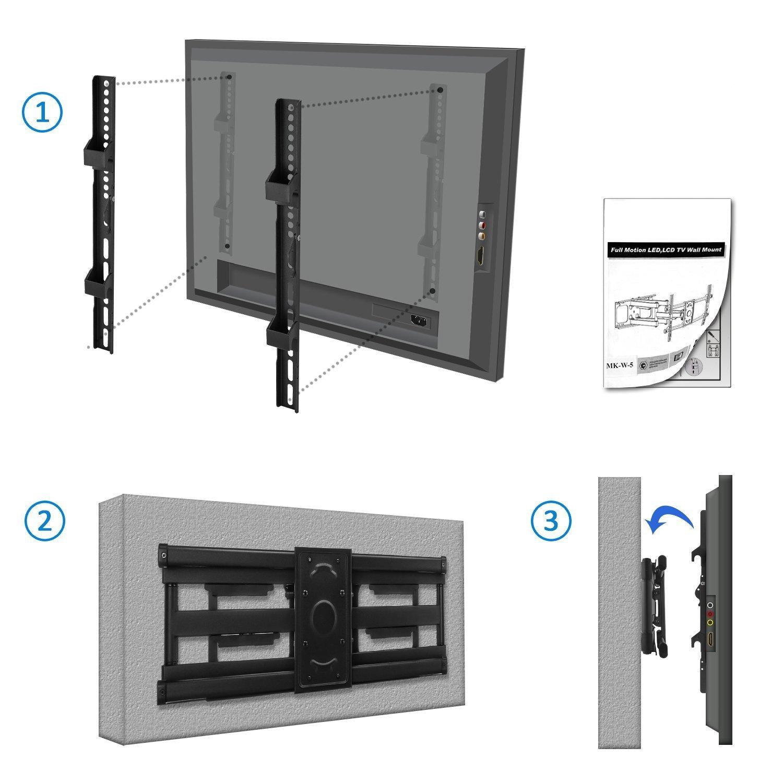 tv wandhalterung bis 75 zoll 66kg vollbeweglich deleycon. Black Bedroom Furniture Sets. Home Design Ideas