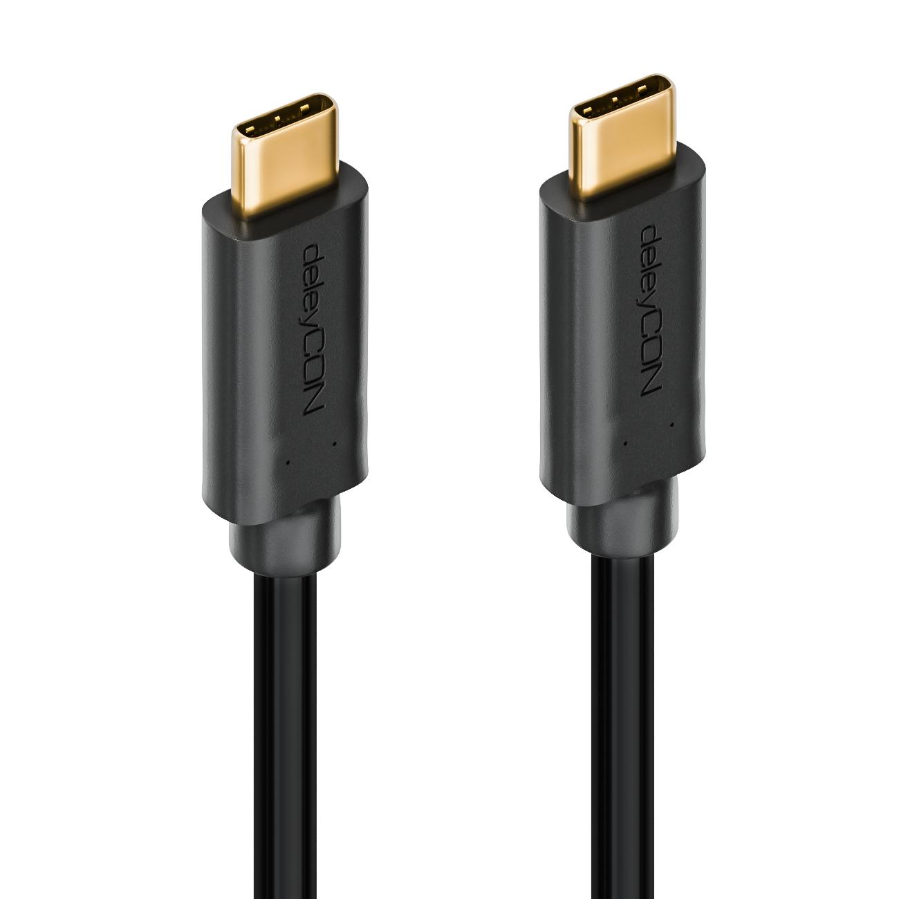 deleyCON USB 3.0 Kabel / Stecker Typ 3.1 / C auf C | deleyCONdeleyCON