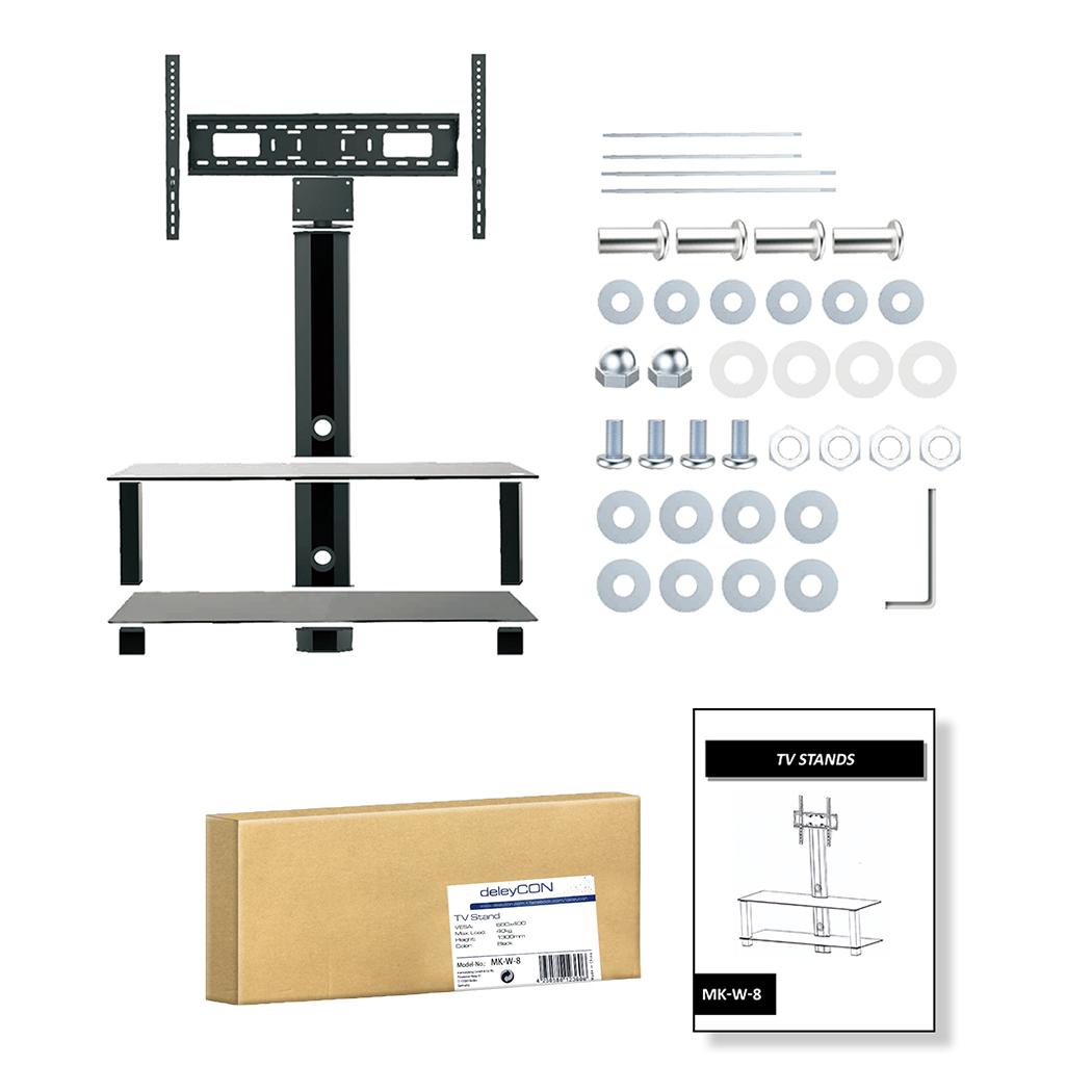 deleycon tv st nder 26 65 zoll bis 40kg deleycon. Black Bedroom Furniture Sets. Home Design Ideas