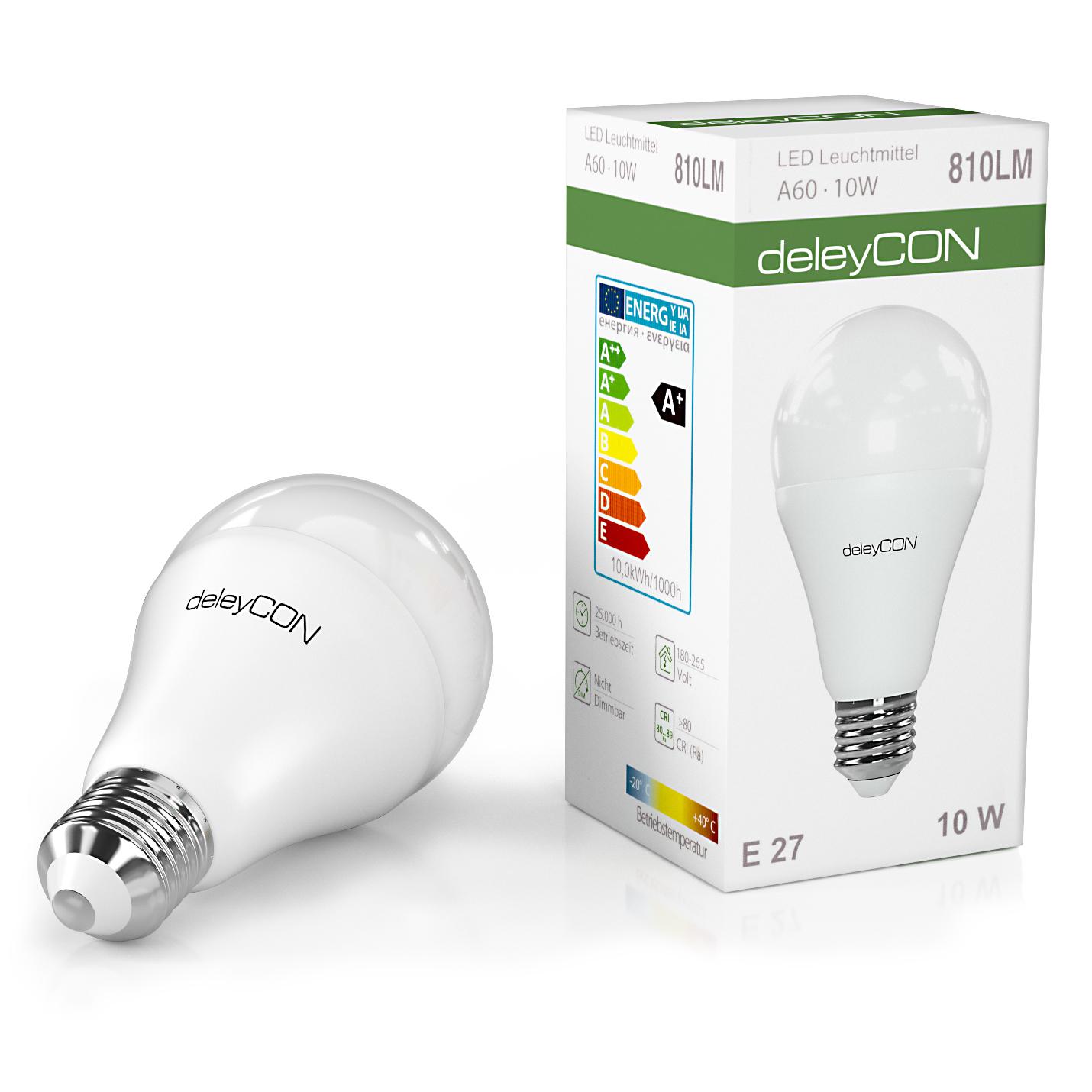 Deleycon led energiesparlampe e27 a60 6000k kalt wei deleycon led energiesparlampe e27 a60 6000k kalt wei leistung 10w parisarafo Gallery