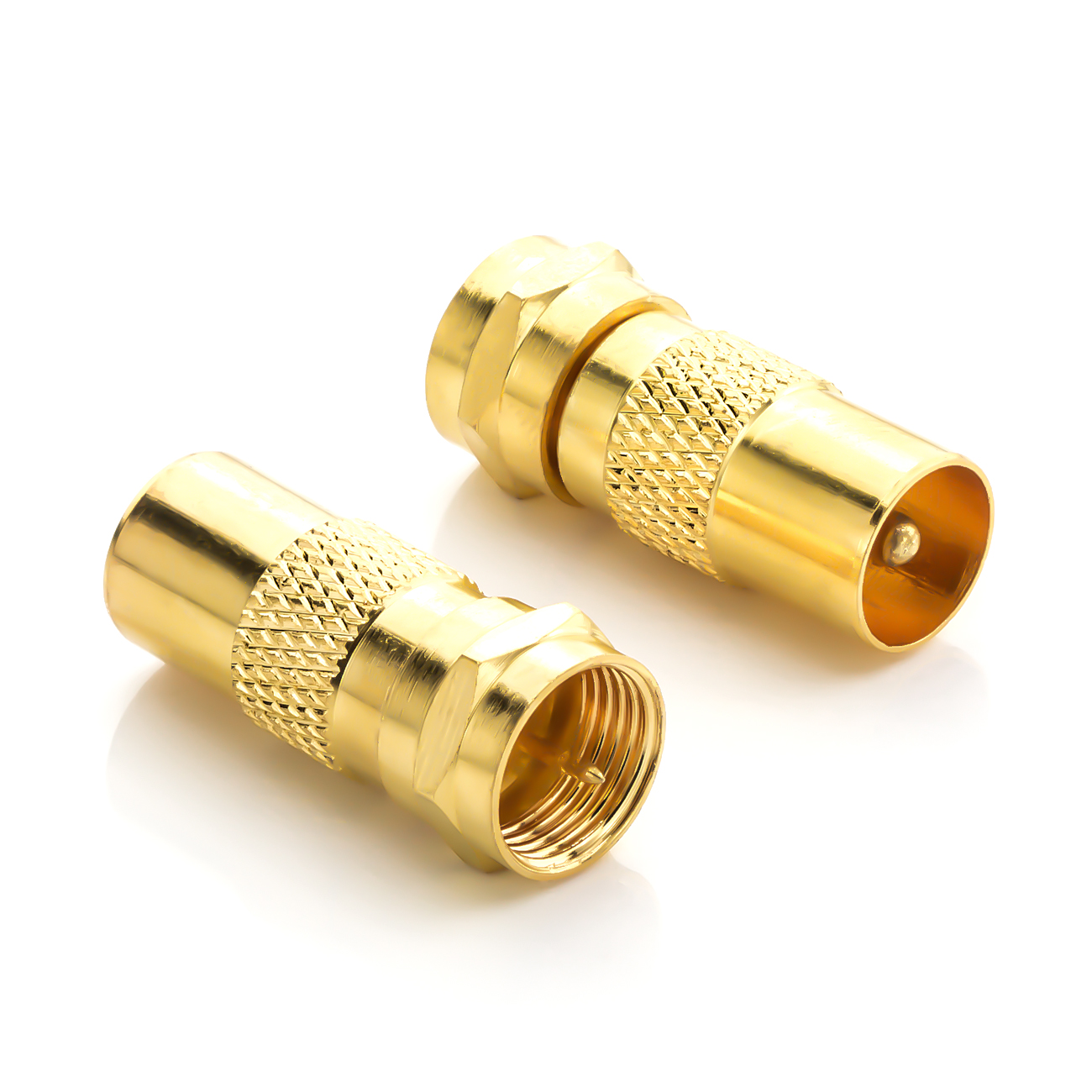 deleyCON SAT Antennenadapter Kabel auf SAT Adapter F-Stecker auf ...