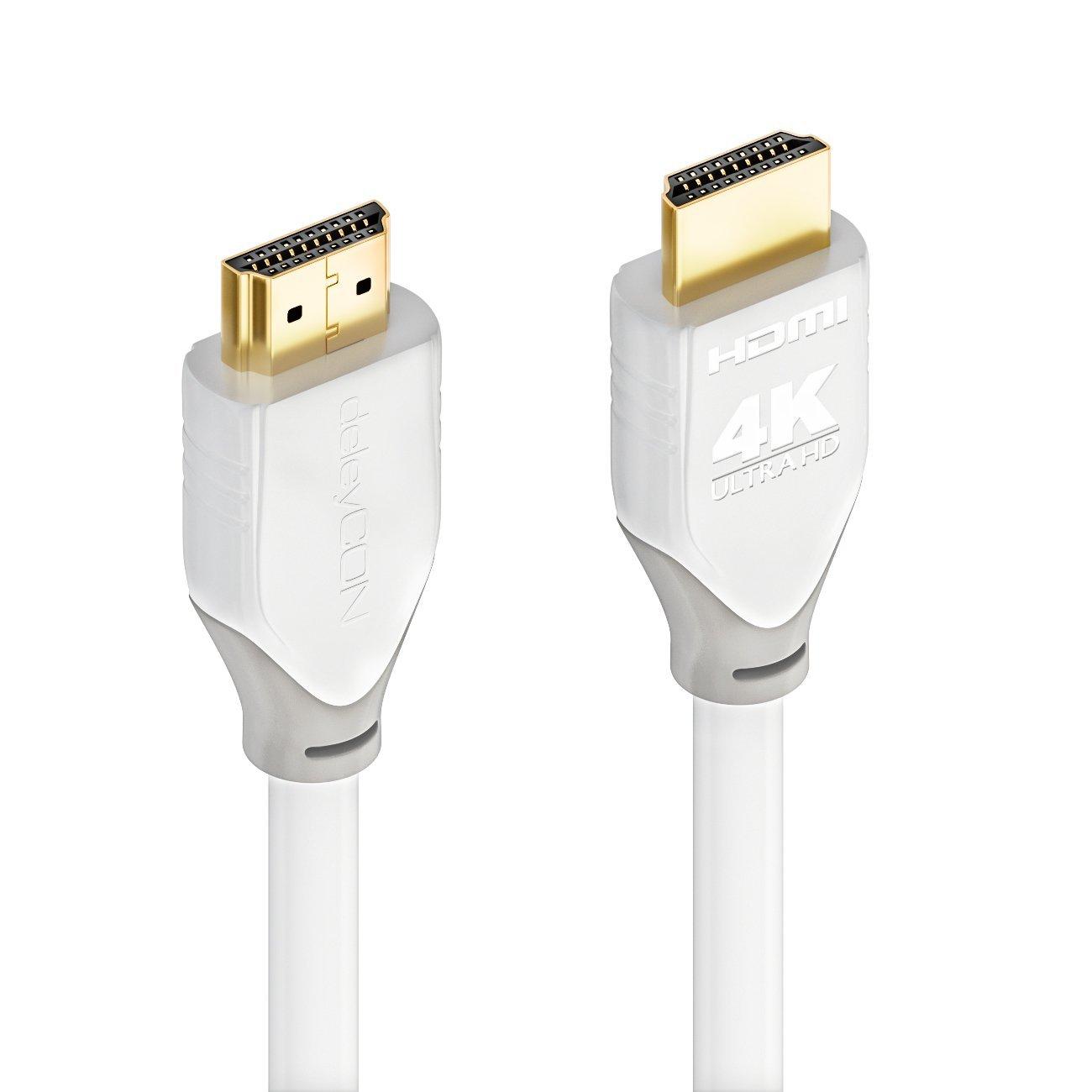 deleyCON HDMI Kabel - kompatibel zu HDMI 2.0a/b/1.4a - Weiß ...